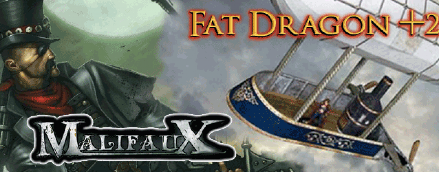 Malifaux miniatures & Fat Dragon papercraft